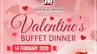 Grand Maleo Makassar Hadirkan Paket Buffet Dinner di Moment Valentine Day