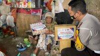 Jelang HUT Lantas Ke-66 Tahun, Satuan Lantas Polrestabes Makassar Kunjungi Rumah Kumuh
